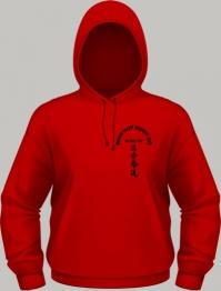 Kapuze rot - Logo schwarz
